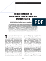 CONSIDERATIONS IN ACQUISITION LESSONS-LEARNED SYSTEM DESIGN.pdf