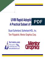 2015 DVCon UVM Rapid Adoption Presentation