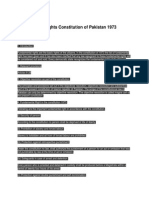 Fundamental Rights Constitution of Pakistan 1973