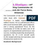 Patrick Rhatigan – 19th Airlift Wing Commander At Little Rock Air Force Base, Arkansas