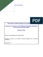 BREF Prévention et réduction intégrées de la pollution (IPPC)