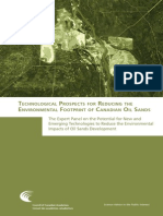 Technological Prospects for Reducing the Environmental Footprint of Canadian Oil Sands