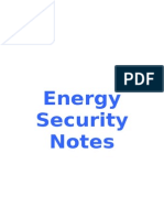 Energy Security Unit 3 Geography Edexcel Notes