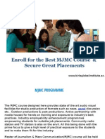 Enroll for the Best MJMC Course & Secure Great Placements