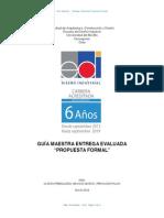 Guía Maestra Entrega PROPUESTA FORMAL