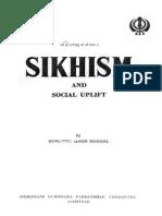 Sikhism and Social Uplift - Devinder Singh Duggal