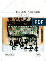 History Philo Religion Catalogue