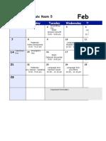 Volunteer Calendar