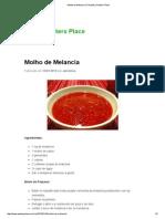 Molho de Melancia _ Receitas _ Peeters Place
