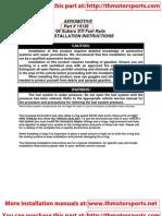 Aeromotive Installation Manual 14136