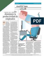 Falta de Sueño Disminuye La Productividad de Empleados