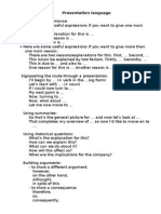 Presentation language