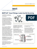 Parker TechConnect BSPP 60 Degree Cone Fittings Looks Can Be Deceiving