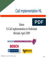 ECall in Nederland 150405