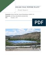 COUPLED SOLAR COAL POWER PLANT