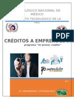 creditos emprendedores 2015