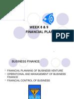 Week 8 Amp 9 Financial Plan