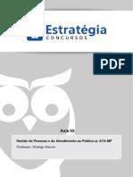 Aula 03 - Desafios Da Ouvidoria Pública No Brasil. Carta de Serviços Ao Cidadão. Dec Nº 6.932de2009. Lei de Acesso a Informação - Lei 12.527de2011