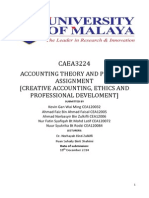 Creative Accounting, Ethics and Professional Develoment