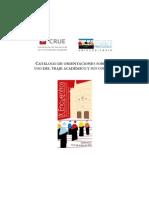 Catálogo de Orientaciones Sobre El Traje Académico y Sus Colores