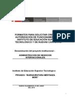 Formatos Creación-Autorización IEST Llenado
