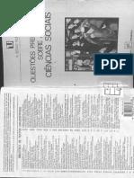 51488028 NUNES a Sedas Questoes Preliminares Sobre as Ciencias Sociais