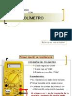 Manual y ejemplos del uso de polimetros eléctricos
