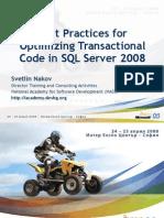 Nakov SQL Server 2008 Transactions Ms Devdays 2008