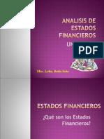 Analisis de Estados Financieros UNIDAD I PERIODO 2015-2