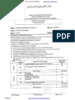 Examen de Passage 2013 Synthese Commerce Tsc Variante 2