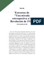 De Una Mirada Retrospectiva a La Revolución de 1911