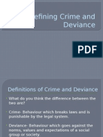 Defining Crime and Deviance