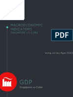 Presentation on the comparison of the Macroeconomic Indicators of Singapore as compared  to those of Cuba