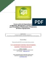 Cursos on line para proveedores y productores agropecuarios