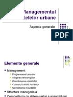 Managementul Retelelor Urbane