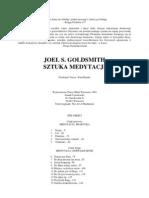 Goldsmith J. S. - Sztuka Medytacji