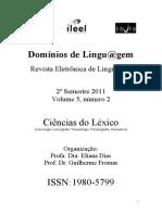 Domínios da Linguagem - Ciências do Léxico