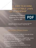 Applying and Teaching the Laws of Leadership