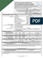 Form 001 SICOES