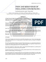 COMPOSITION AND BEHAVIOUR OF THERMAL INSULATING CONCRETE(TIC)