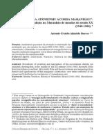 ACORDA ATENIENSE! ACORDA MARANHÃO!_ Identidade e Tradição No Maranhão de Meados Do Século XX