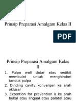 Prinsip Preparasi Amalgam Kelas II