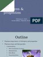 5- Estrogen and Progestins Jan2014