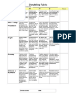 digital storytelling rubric