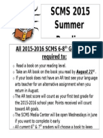 summer reading requirements 2015