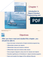 Object Oriented Programming - Ch 1
