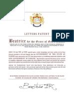 letters patent panem