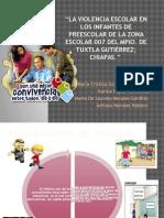 La Violencia Escolar en Los Infantes de Preescolar de La Zona Escolar 022