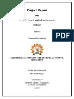 Project Report on HTML based Web development (Blog)