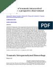 Progression of Traumatic Intracerebral Hemorrhage
